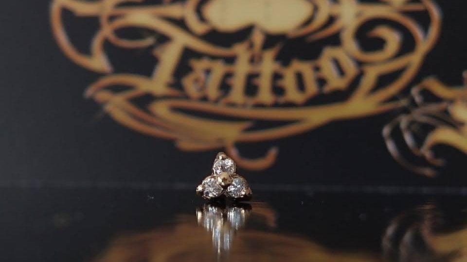 Trinity zirconia en Oro 14 k  $USD