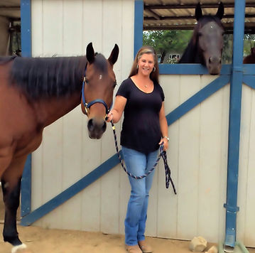 Ellie, Janean and Dazzle at Huston Ranch
