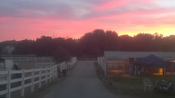 Sunset at our ranch
