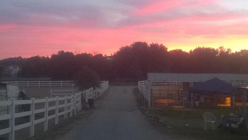 Sunset at Huston Ranch
