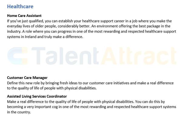 Healthcare Job Description