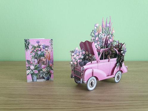 The Pink Flower Car 3D