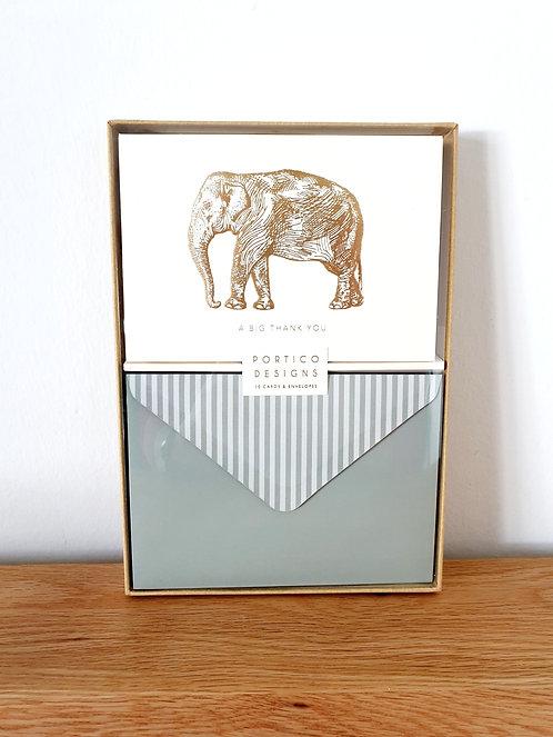 """Karten-Set """"A big Thank you"""" Elefant"""