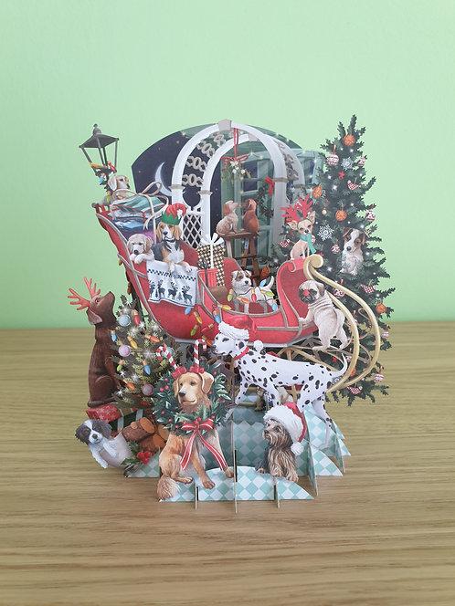 "3D Karte ""Christmas Puppies"""