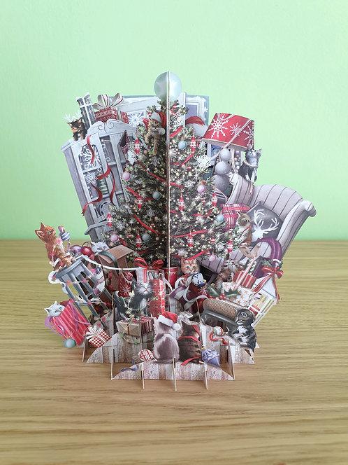 """3D Karte """"Christmas Cats"""""""
