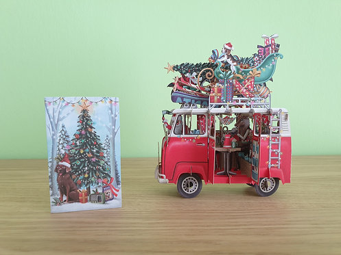 """3D Karte """"Christmas Camper"""""""