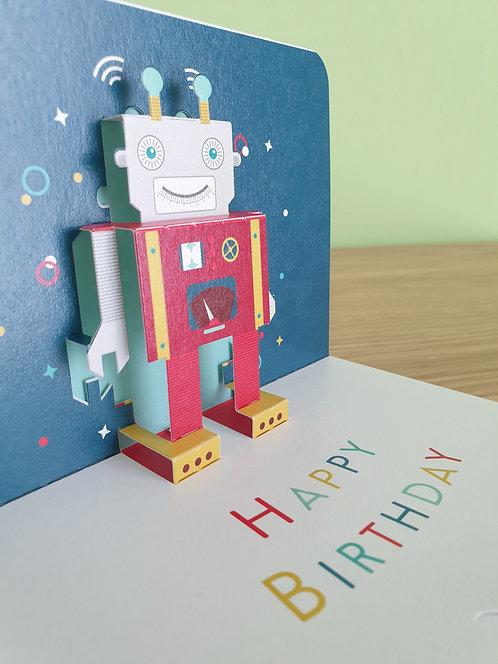 Happy Birthday Roboter Pop up 3D