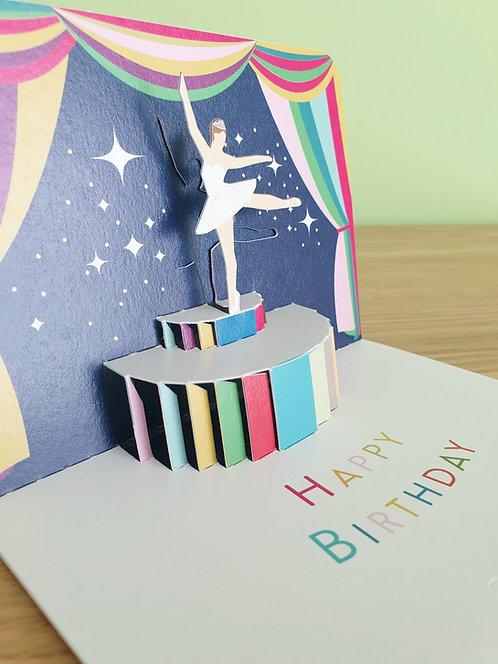 Happy Birthday Ballerina Pop up 3D