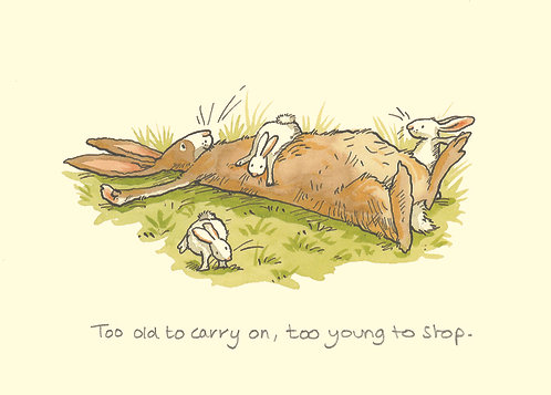 Too old to carry on, too young to stop