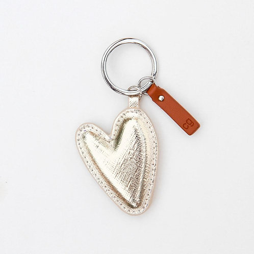 Schlüsselring Herz Gold