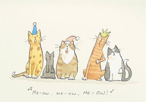 Me-ow, me-ow, Me-OW!