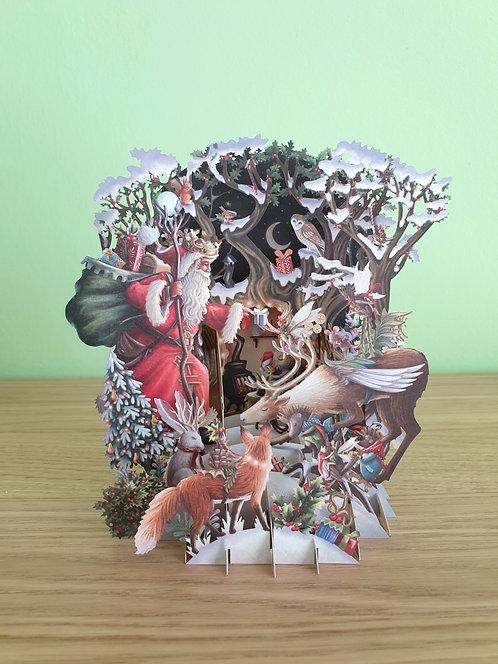 "3D Karte ""Santa's Woodland"""