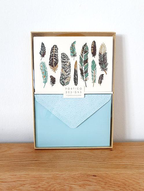 Karten-Set Federn (blanko)