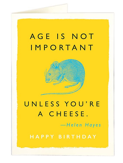 Age is not important