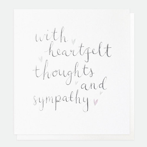 With heartfelt thoughts and sympathy