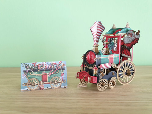 """3D Karte """"Santa's Train"""""""