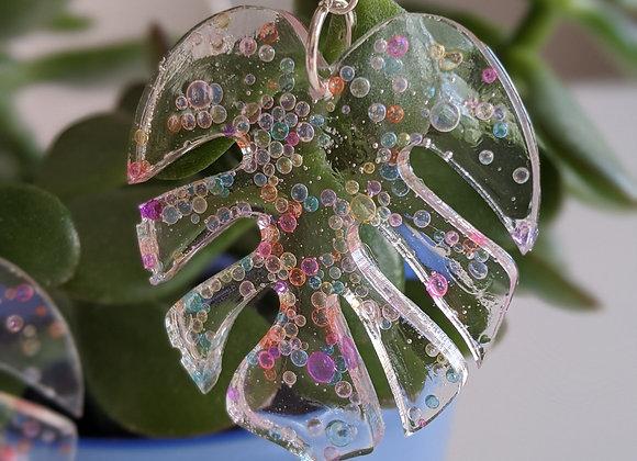 Bubble Leaf Earrings