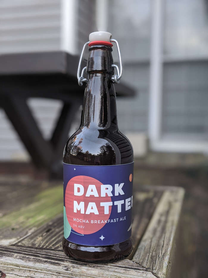 'Dark Matter' Beer Label