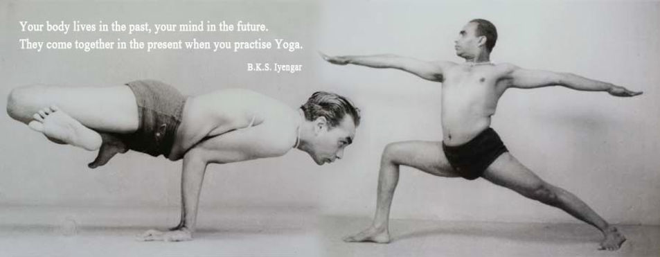 B.K.S. Iyengar practice