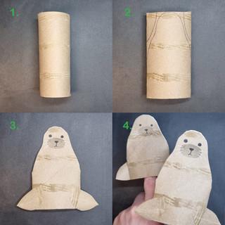 Sea lion finger puppet