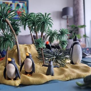 Penguin island playdough