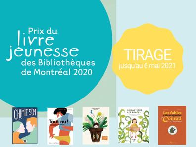 Tirage - Prix du livre jeunesse des bibliothèques de Montréal
