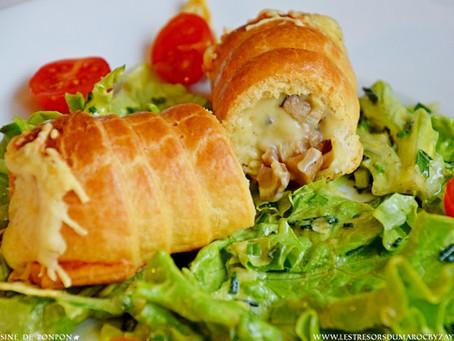 👌🥰🤤Roulé feuilleté végétarien, au fromage & champignons 👍🥟😋