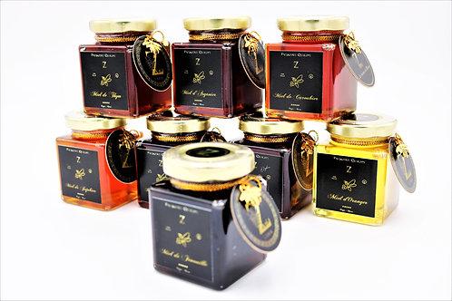 Lote de nueve Mini tarros de Miel (muestras) de Marruecos.