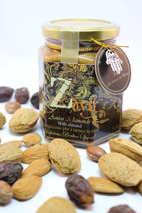 Amlou au amandes torréfié (biologique) 100% Naturelle.
