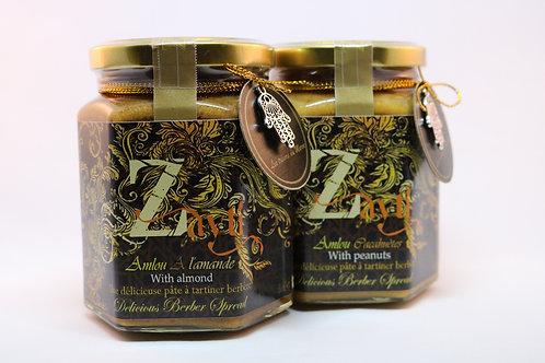 Lots de 2 pots d'Amlou  (biologique) aux cacahuètes & l'autre aux  amandes