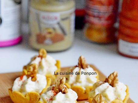 😉Amuse bouche à la crème de chou fleur et moutarde aux noix🤤