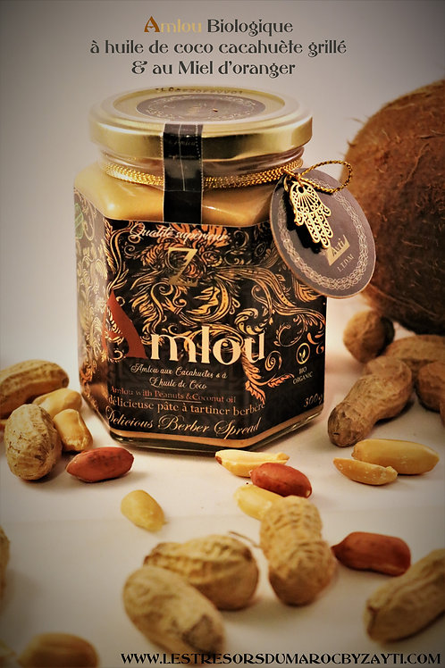 Amlou with Almonds in Coconut Oil & Orange Tree Honey 300 g (100% Organic).