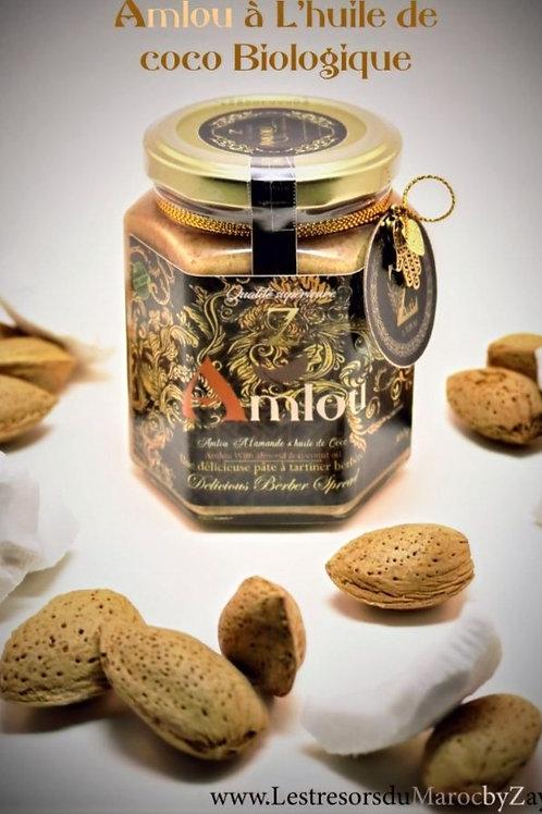 Amlou con Mandorle in Olio di Cocco e Miele d'Arancio 300 g (Biologico) 100% Na