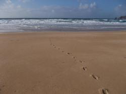 Spuren Strand Finisterre
