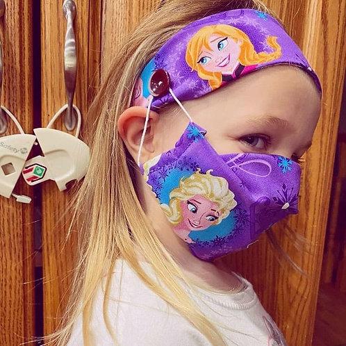Children's Mask & Headband Set