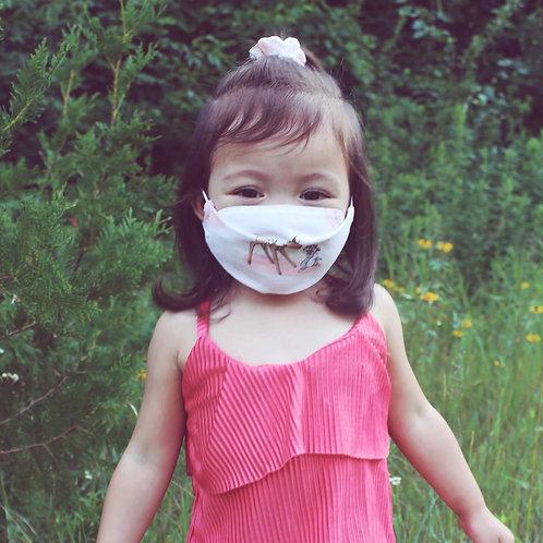 Children's Mask, Headband W/Buttons, & Scrunchie Set