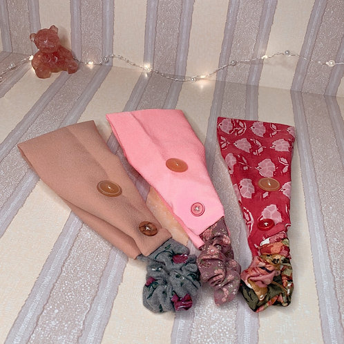 Adult Headbands with Buttons