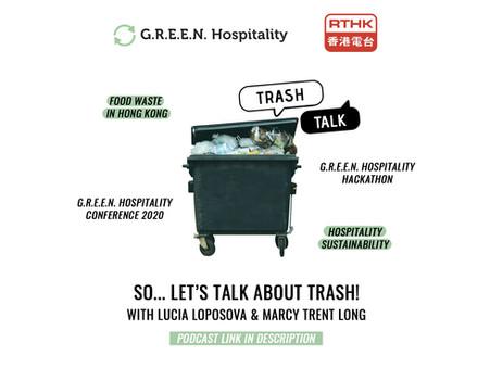 RTHK3 Trash Talk Interview with G.R.E.E.N.'s Lucia Loposova