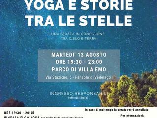 Yoga e storie tra le stelle