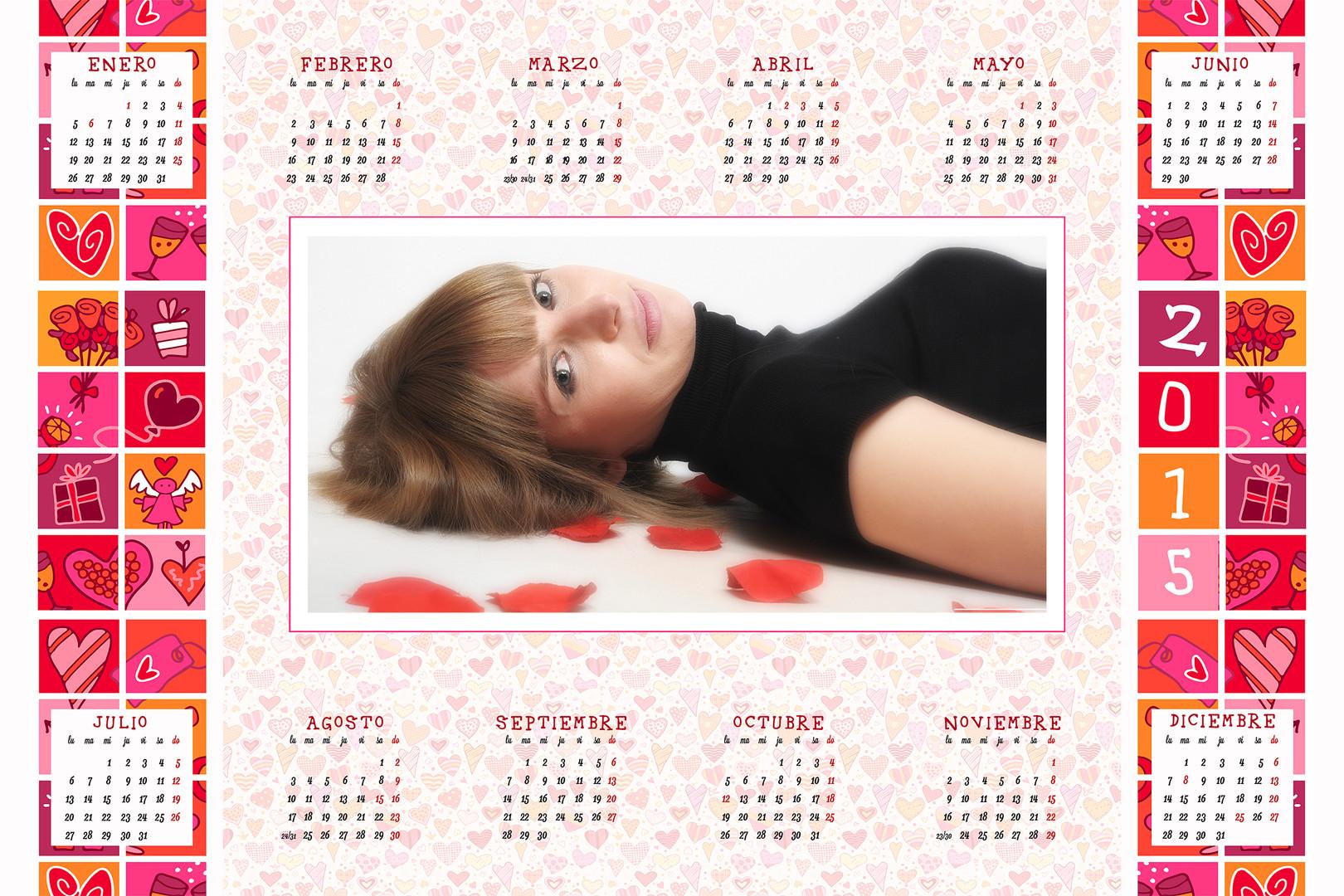 Calendario con fotos en cada mes