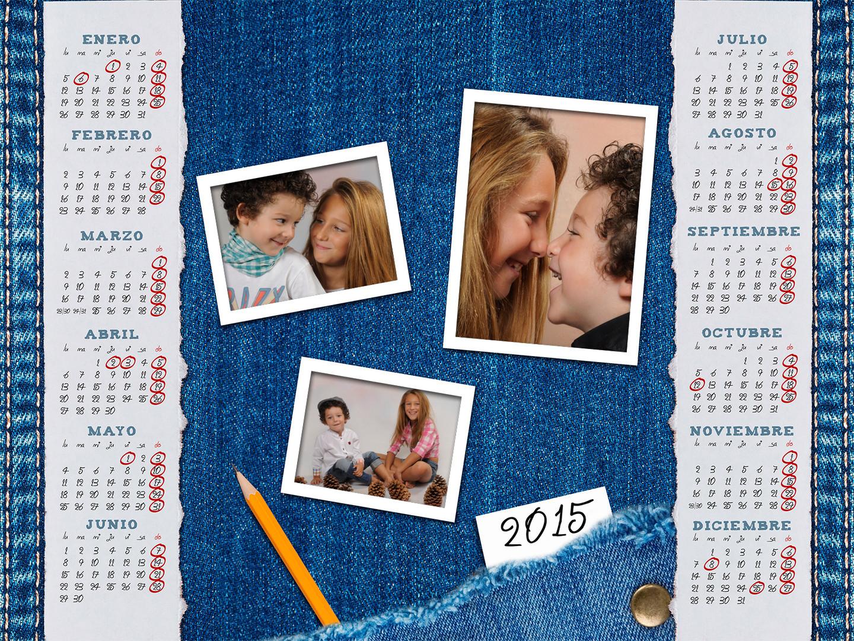 Calendarios con fotos y texto