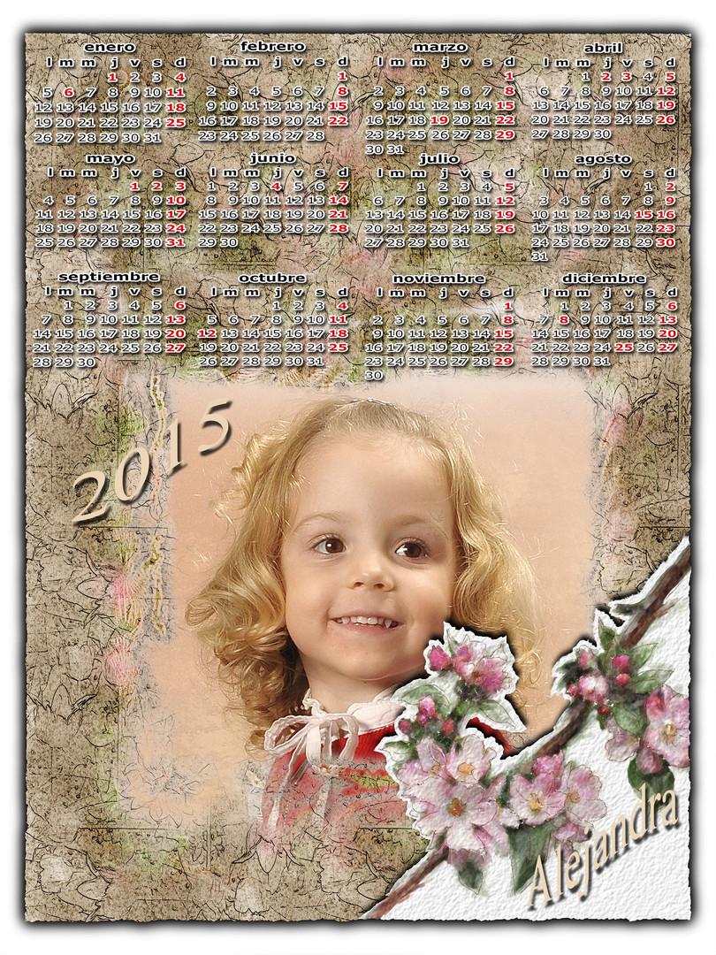 Almanaque con foto