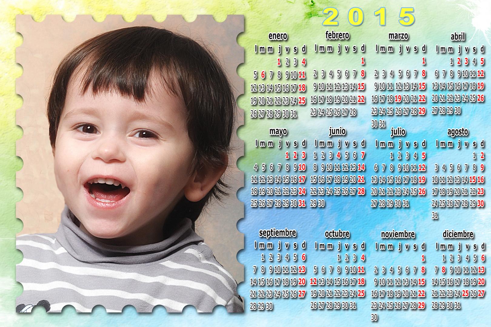 calendario multicolores