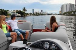 Intracoastal views form pontoon boat