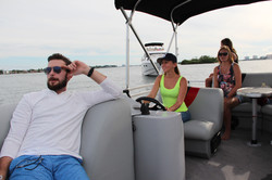 Pontoon boat is a fun to drive