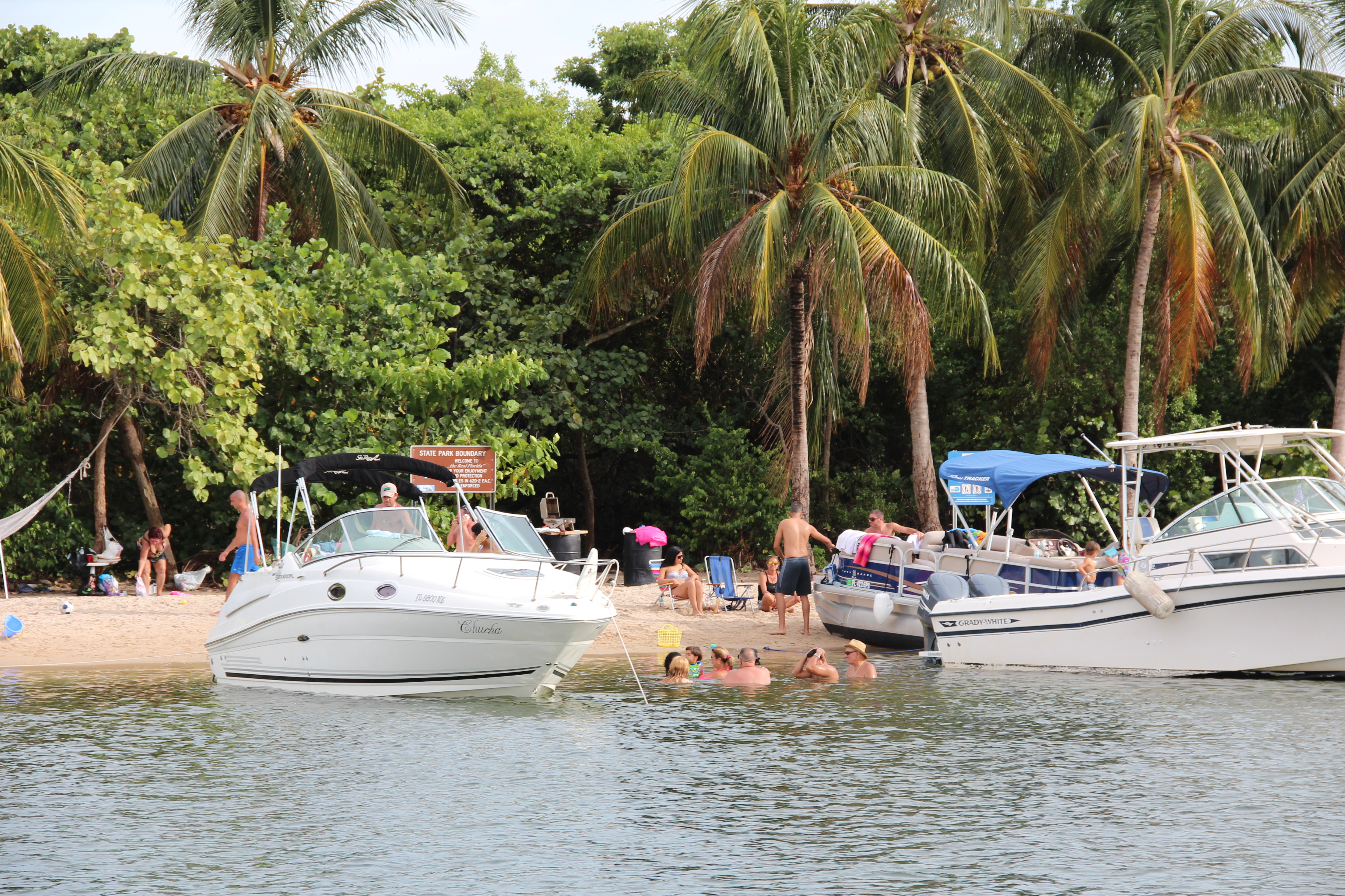 Boats at Haulover Islands
