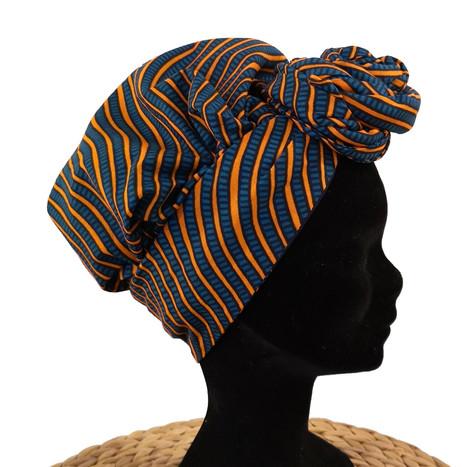 Bonnet Foulard Zèbre Orange 1.jpg
