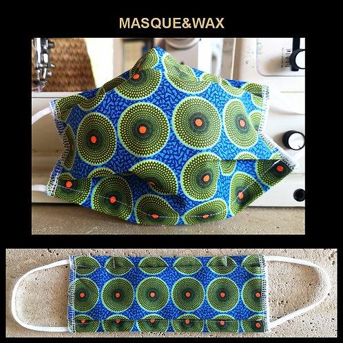 """Masque Motifs Wax """"Mandala Vert"""""""