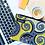 "Thumbnail: Pochette Wax ""Mandala Jaune"""