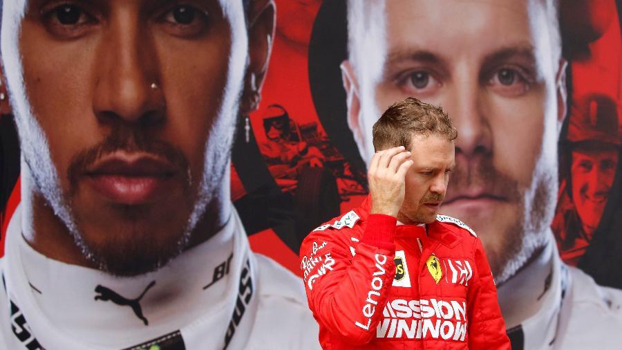 Sebastian Vettel sente o peso de tirar a Ferrari da Fila - Foto:  Aly Song/Reuters